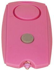 Mini PERSONAL ALARM LED Security Flashlight Belt Clip Key Chain 120db PINK NEW