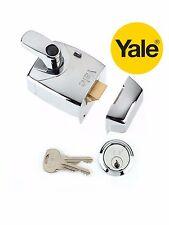 Yale De Alta Seguridad X9 60mm Manija De Seguridad Nightlatch Noche Pestillo En Cromo-Nuevo