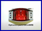 (1) Truck Trailer 6 LED RED Armored Die Cast Marker/Clearance Lights Optronics