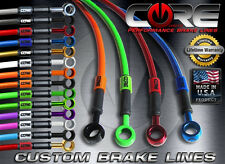 CORE MOTO Kawasaki ZX636 ABS  2013-2016 Brake Line set front rear SS braided kit