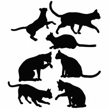 Cat Family cat lover die cut vinyl decal sticker window laptop car animal