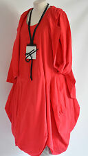 D'celli  LAGENLOOK  parachute dress & JACKET SZ L/XL red