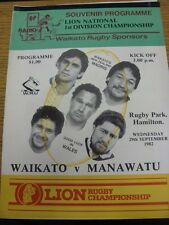 29/09/1982 Rugby Union Programme: Waikato v Manawatu. Thanks for viewing our ite