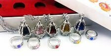 Hot Anime Cosplay Puella Magi Madoka Magica Soul Gem 5 Necklace + 5 Rings Toy