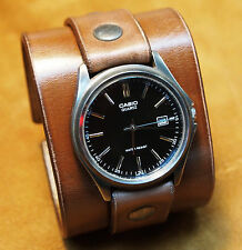 Leather Cuff Watch Nathan Drake by Freddie Matara Custom NYC wristband bracelet!