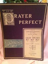 """The Prayer Perfect"", Sheet Music by Oley Speaks. 1930."