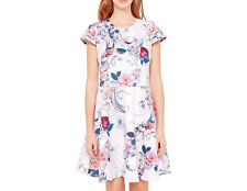 Ted Baker keiley acanthus scroll dress light pink SIZE 4 UK 14 US 8 10
