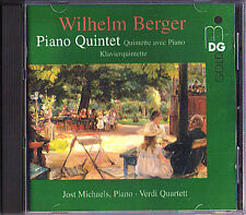 Wilhelm BERGER 1861-1911 Piano Quintet JOST MICHAELS VERDI-QUARTETT MDG Gold CD