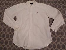 Ralph Lauren Polo Oxford Shirt •WHITE• Boys Sz 20 Flaws