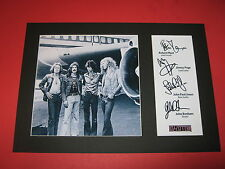 LED ZEPPELIN A4 PHOTO MOUNT SIGNED REPRINT AUTOGRAPH ROBERT PLANT JIMMY PAGE
