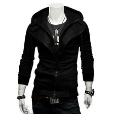 New Men's Slim Fit Fleece Sweatshirt Hoody hoodie Hooded Jacket Top Coat