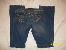 NWT BLUE GIRL WEATHERED ABRASION ENERGY INTEL JEANS W 28  RET $79.99 DISTRESSED