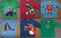 BOYS EX MINI BODEN TOP TSHIRT 2 3 4 5 6 7 8 9 10 11 12 13 14 various patterns