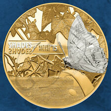 Cook Islands - Shades of Nature - Butterfly - 5$ 2015 PP - Silber