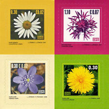 Stamp of SET ESTONIA 2004 2006 2007 - Flowers 4 stamps