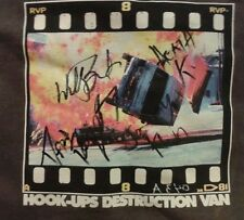 SIGNED AUTOGRAPHED Hook-Ups Skate Shirt Jeremy Klein Willy Santos Heath Kirchart