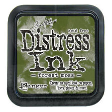 Tim Holtz Distress Ink Pad Full Size FOREST MOSS green, evergreen   See Video