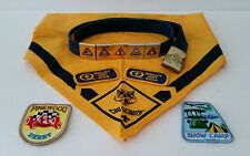 Cub Scout Lot Belt Neckerchief Metal Badges Patches