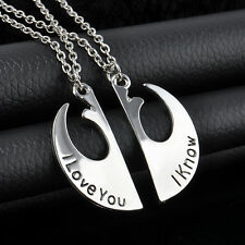 Charming Star Wars I Love You I Know Couple Necklace Two Part Necklaces Gifts