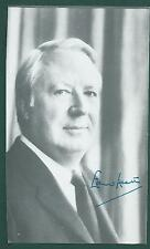 "Sir Edward Heath signed 4""x6-1/2"" picture British Prime Minister"