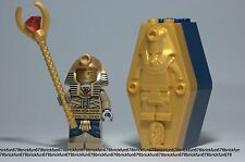 LEGO New Pharaoh's Quest Amset-Ra Minifigure w/Golden Coffin Staff from 7327