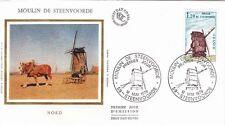 Enveloppe 1er jour STEENVOORDE 12/05/1979 moulin photo fronval timbrée