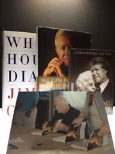3 Books signed by Jimmy Carter, 1st/1st, photo included