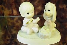 "Precious Moments-#531944 ""Sharing Our Christmas Together""-Boy w/Puppy- LOT OF 12"