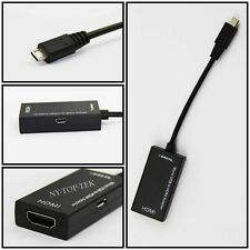 For 1080P Mini Micro USB MHL to HDMI Adapter Cable 150mm NEW
