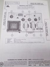 Sams Photofact Folder Radio Parts Manual Airline AMP Chassis GST-6315A/-6345A