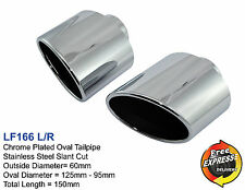 Exhaust tips Universal Oval Tailpipe trims for SAAB LEXUS IS250 GS300 EVO 10