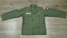 US ARMY HBT OG 107 SHIRT JACKET KOREA VIETNAM WAR 38R