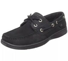 New SPERRY TOP SIDER WOMENS BLUEFISH 2-EYE BLACK Boat Shoes SIZE 8 M