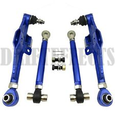 BLUE FITS 89-94 240SX S13 180SX FRONT LOWER CONTROL ARM+HIGH ANGLE HA TENSION