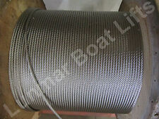 """90' 1/4"""" Galvanized Boat Lift Cable , Cable Clamps, and Thimbles Free Shipping"""
