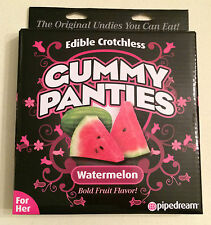 Edible Crotchless Gummy Panties Watermelon Green For Her Bold Hot Sexy Bday Gift