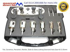 Diamond Tile Drilling Set 5-35mm for Porcelain, Granite, Marble, Slate & Glass
