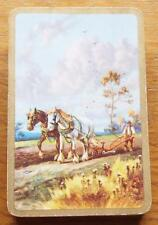 Horses Ploughing - Vintage 1930's Pack of De La Rue Playing Cards