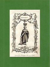 SAMUEL WALE -  KING EDWARD V, THE KING WITHOUT A CROWN - RARE COPPERPLATE (1770)