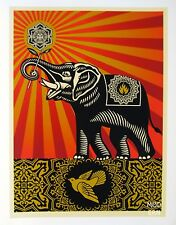 OBEY ELEPHANT : SHEPARD FAIREY : SIGNED COA : BENEFIT LIMITED ED 150 : MINT