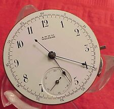 Vintage 41mm WALTHAM WATCH CO CHRONOGRAPH M0VEMENT HUNTING Pocket Watch