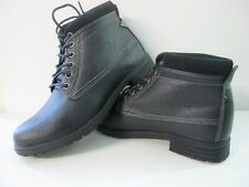 Mens Soviet Black Lace Up Boots Uk 8 EUR 42