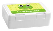 Brotdose mit Wunschname Babyaufkleber-Motiv Text Wunschtext personalisiert Weiß