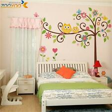 owl wall decals colorful tree wall arts diy animal wall stickers for kids room