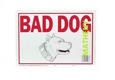 Bad Dog Aluminum Sign ~ Home Surveillance ~ Warning Pit Bull ~ Metal