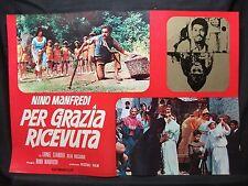FOTOBUSTA CINEMA - PER GRAZIA RICEVUTA - NINO MANFREDI - 1970 - DRAMMATICO - 01