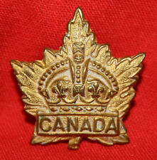 C.E.F. Gilt GENERAL LIST Collar Badge
