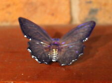 COBALT CARNIVAL GLASS KATIE the BUTTERFLY. BOYD