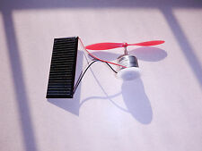 Solar panel and fan kit-encapsulated solar panel with high speed motor and blade