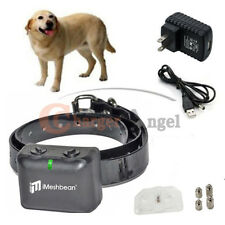 Rechargeable Waterproof Dog No Bark Shock Collar Anti Stop Pet Barking Control